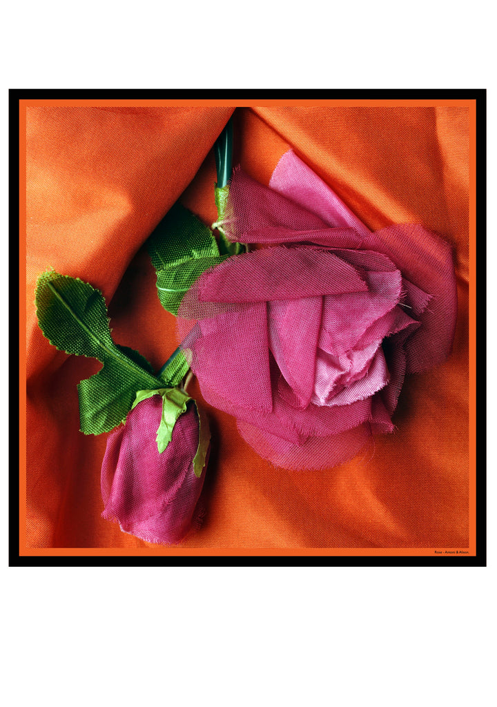 Orange Rose Scarf.