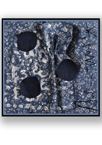 Denim Floral Scarf