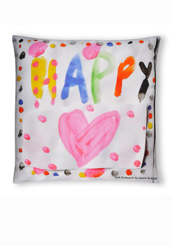 Soft Sculpture Cushion A - Happy & Sad