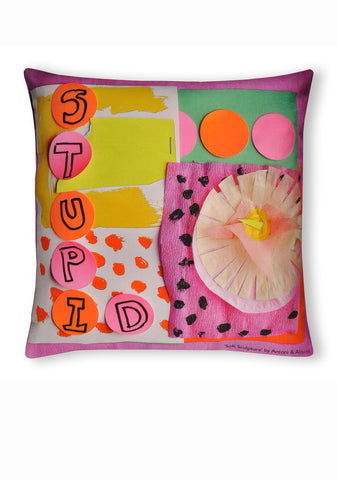 Soft Sculpture Cushion B - Stupid & Clever