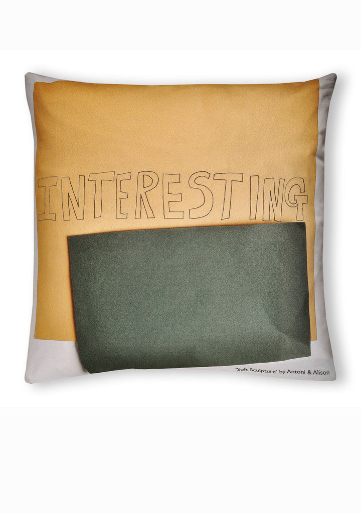 Soft Sculpture Cushion C - Interesting & Dull