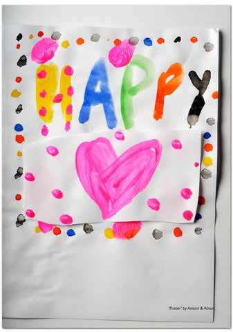 Poster 1 - Happy (edition of 20  - signed)