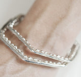 HEXAGON BUBBLE BANGLE silver