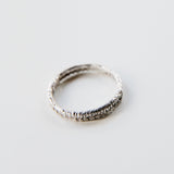 LACE ROW BAND {silver}