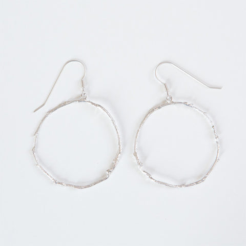 BRANCH HOOP EARRINGS {silver}