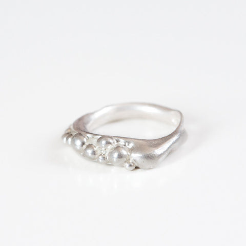 BUBBLE RING {silver}
