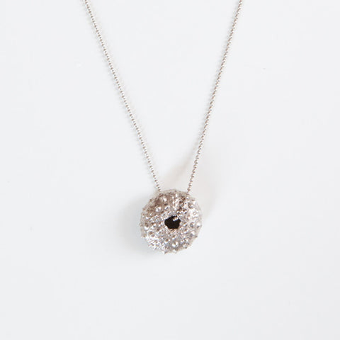 SMALL SEA URCHIN PENDANT {silver}