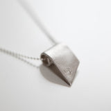 Angular Ribbon Pendant in Recycled Sterling Silver