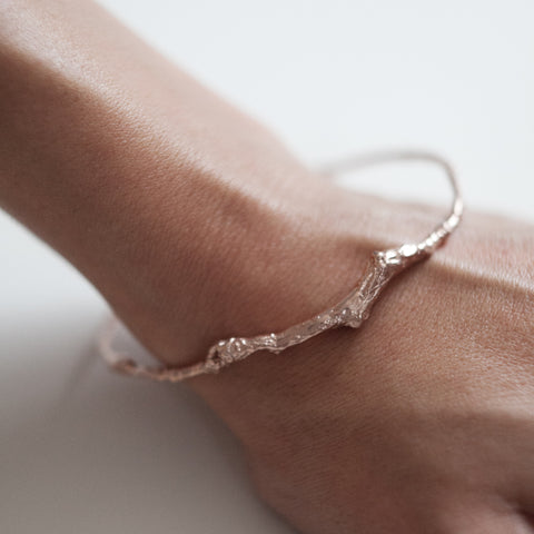 BRANCH BANGLE {rose gold}