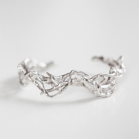 Branch Cuff in Recycled Sterling Silver