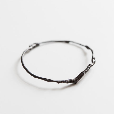 BRANCH BANGLE {oxidized silver}