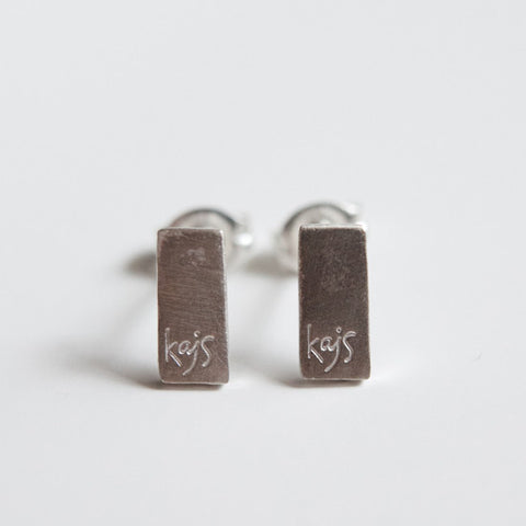 RECTANGULAR EARRINGS silver