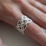 DELICATE SAND DOLLAR LACE RING {silver}