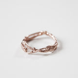rose gold branch wedding ring