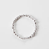 DELICATE BUBBLE BAND {silver}