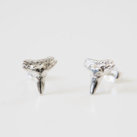 SHARK TOOTH STUDS silver