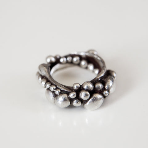 ORIGINAL BUBBLE RING {silver}