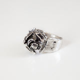 Pine Cone Ring in Recycled Sterling Silver