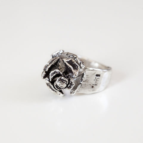 PINE CONE RING {silver}