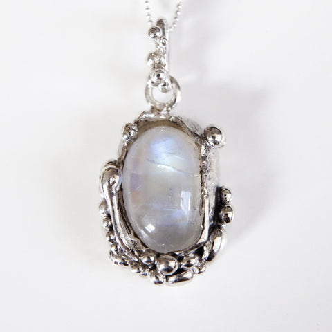 MOONSTONE BUBBLE PENDANT silver