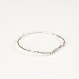 BRANCH BANGLE {white gold}