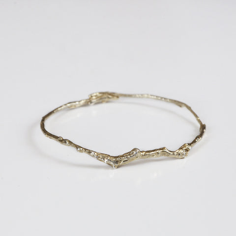 BRANCH BANGLE {yellow gold}