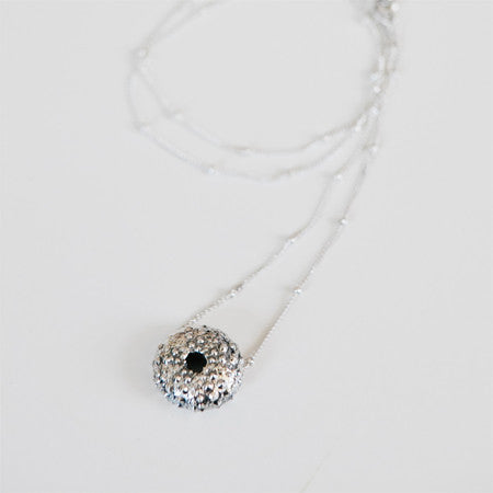 SEA URCHIN NECKLACE {silver}