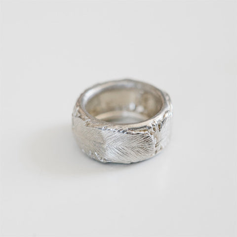 FEATHER RING {silver}