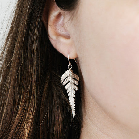Fern Earrings in Recycled Sterling Silver