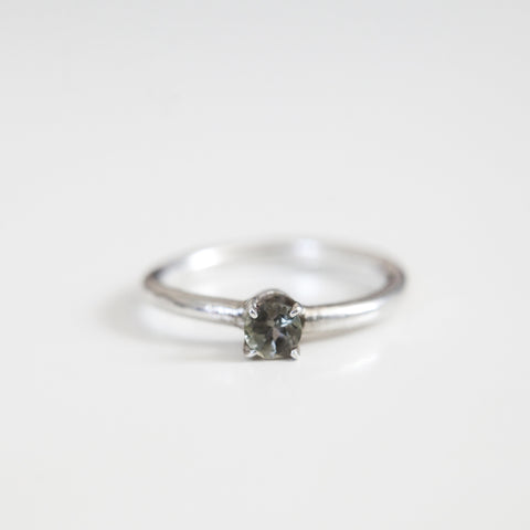 GREEN AMETHYST RING silver