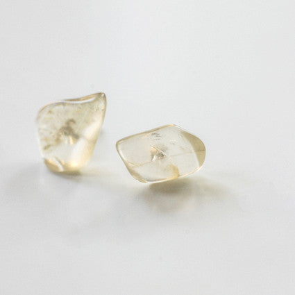 OREGON SUNSTONE STUDS {silver}
