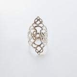 DELICATE LACE SHIELD RING