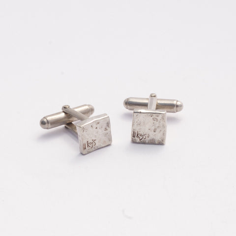 Square Hammered Cufflinks