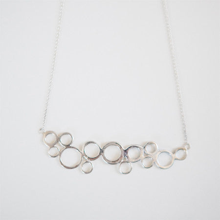 SEAFOAM NECKLACE silver