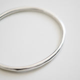 Oval Bangle in Recycled Sterling Silver