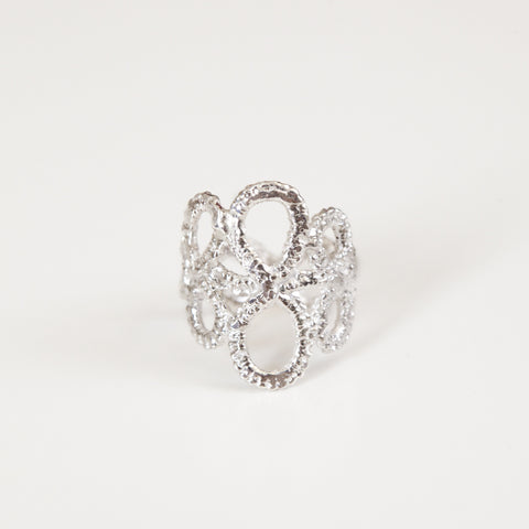 OPEN LACE RING silver