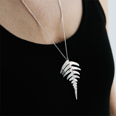 Fern Pendant in Recycled Sterling Silver