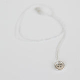 BUTTON NECKLACE {silver}