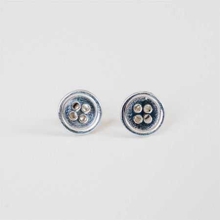 BUTTON STUDS {silver}