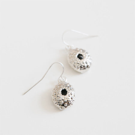 SEA URCHIN EARRINGS silver