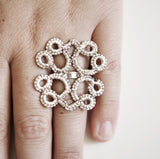 BOLD LACE RING {silver}