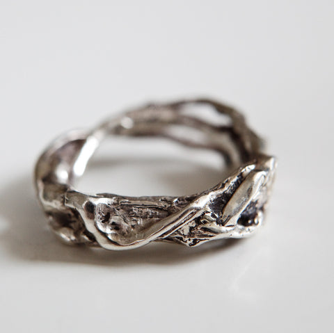 THICK BRANCH RING {silver}