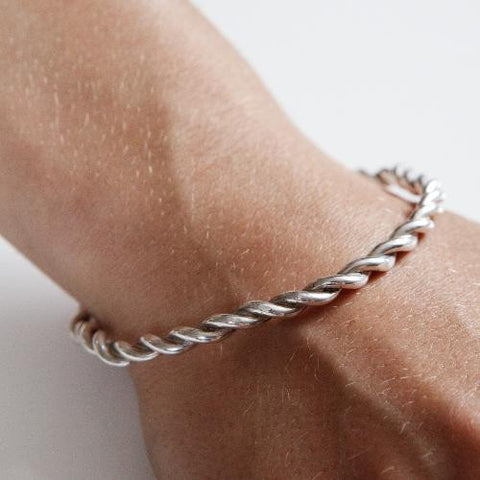 ROPE BANGLE silver