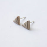 TRIANGLE {wood stud earrings}