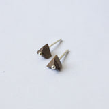 PYRAMID {wood stud earrings}