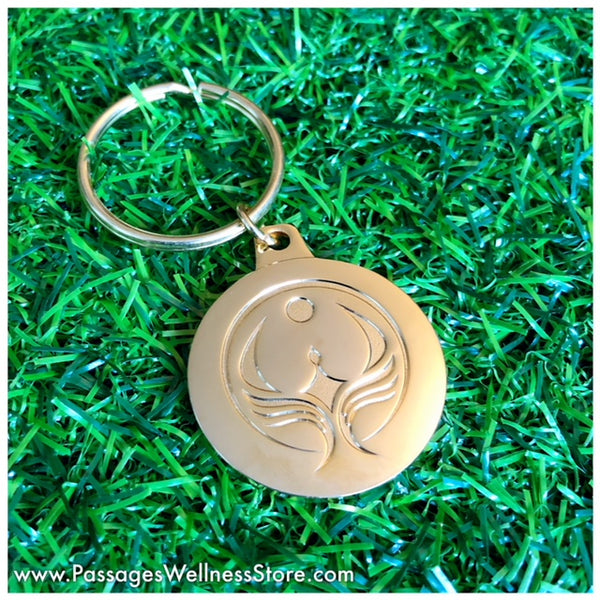 Passages Double Gold Plated Keychain