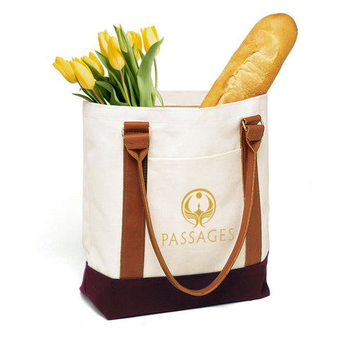 Medium Two-Tone Passages Tote Bag