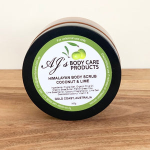 Coconut & Lime Scented Body Scrub