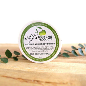 Coconut & Lime Scented Body Butter