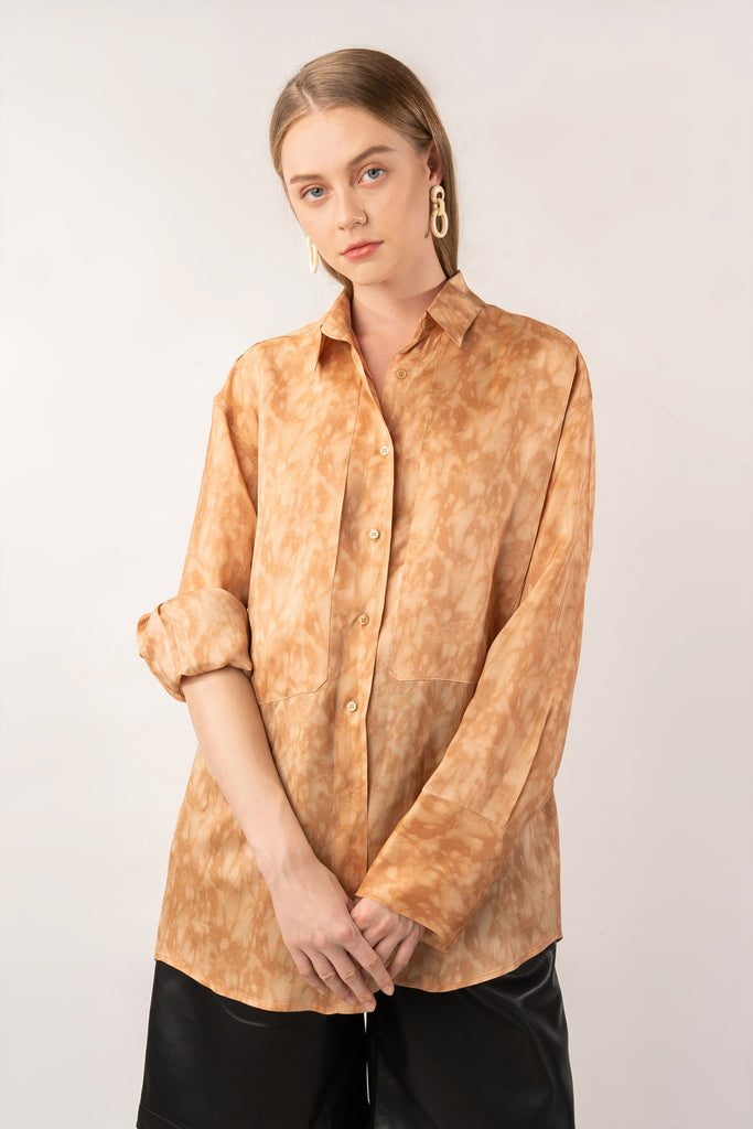 Fallen Leaves-Organza Shirt